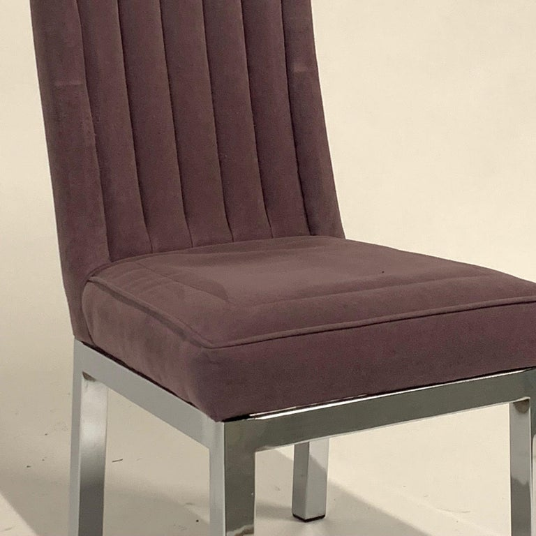Set of 6 Milo Baughman for Design Institute of America DIA Chrome Parsons Chairs For Sale 7