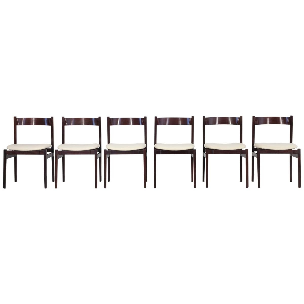 "Set of 6 ""Model 101"" Dining Chairs, Designed by Gianfranco Frattini"