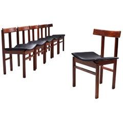 """Set of 6 """"Model 193"""" Dining Chairs, Inger Klingenberg for France & Søn, DK 1960s"""