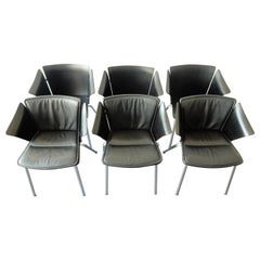 Set of 6 model 'VM3' Vico armchairs by Vico Magistretti for Fritz Hansen, 1990s