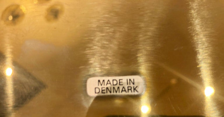 Set of 6 Modern Charger Plates in Brass Made in Denmark In Excellent Condition For Sale In San Diego, CA