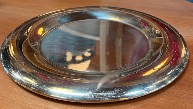 Set of 6 Modern Charger Plates in Brass Made in Italy, 1970s For Sale 1