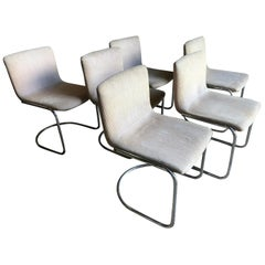 Set of 6 Modern Dining Chairs by Giovanni Offredi