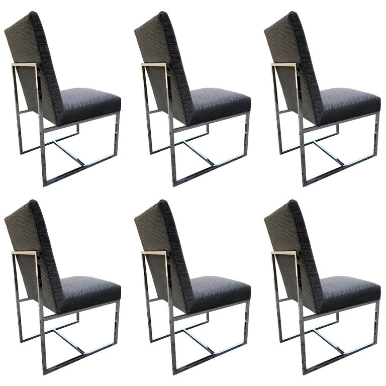 Set of 6 Modern Dining Chairs For Sale