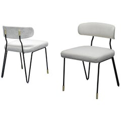 Set of 6 Modern Dining Chairs with Metal Base