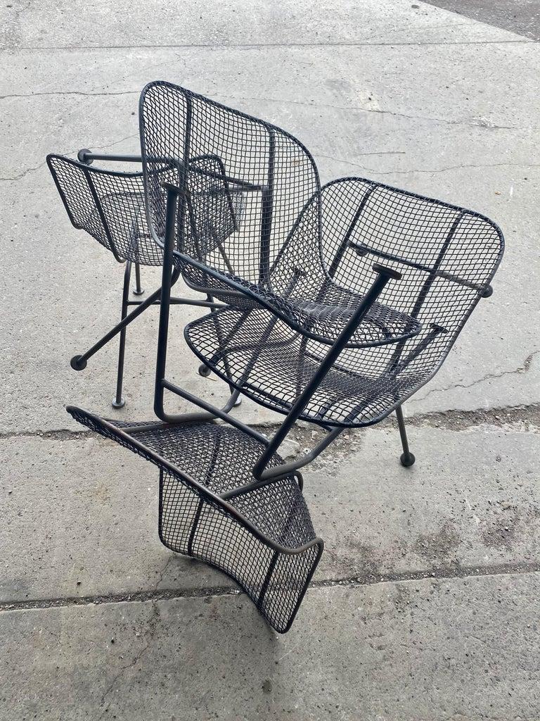 Set of 6 Modernist Russell Woodard Sculptura Side Chairs, Outdoor Garden For Sale 2