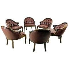 Set of 6 Monteverdi-Young Ram's Head Armchairs