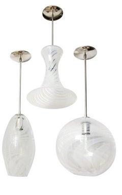 Set of 6 Moshe Bursuker Swirls Glass Pendants, 2018 (Special Order)