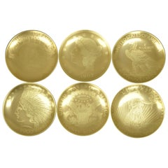 Set of 6 Neiman Marcus 95th Anniversary 1907 Gold Mintage Dessert Plates