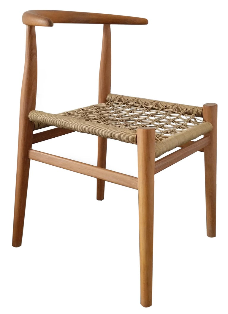 Set of 6 original John Vogel Nguni chairs in Iroko Timber.