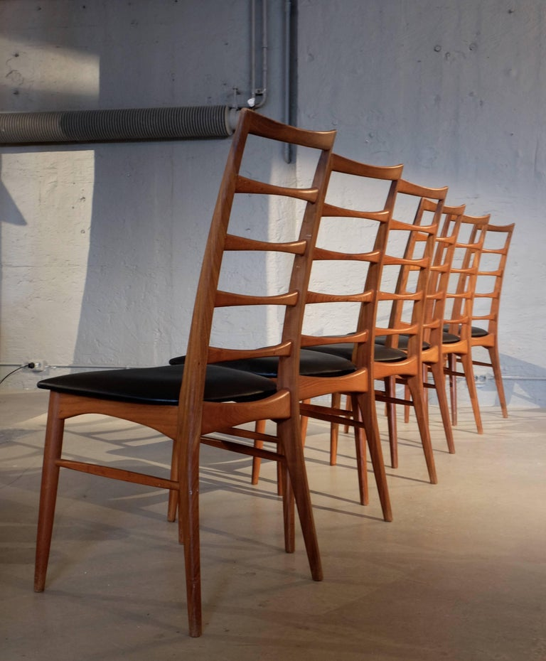 Set of Six Niels Koefoed Dining Room Chairs, Denmark 1960s In Excellent Condition For Sale In Stockholm, SE
