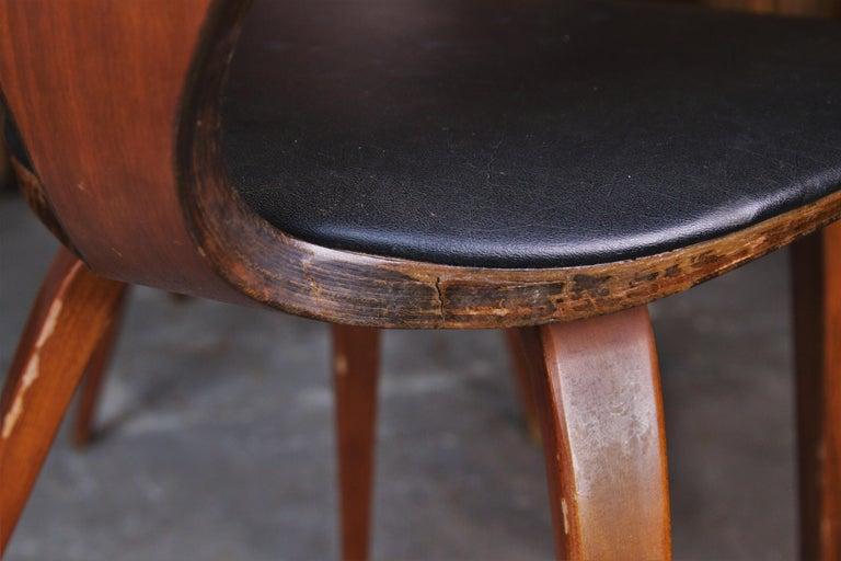 Set of 6 Norman Cherner for Plycraft Walnut Pretzel Dining Chairs For Sale 1