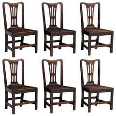 Set of '6' Oak Dining Chairs