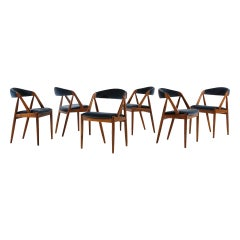 Set of 6 Oak Dinning Chairs by Kai Kristiansen, 1960s