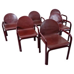 Set of 6 Orsay Armchairs by Gae Aulenti for Knoll International