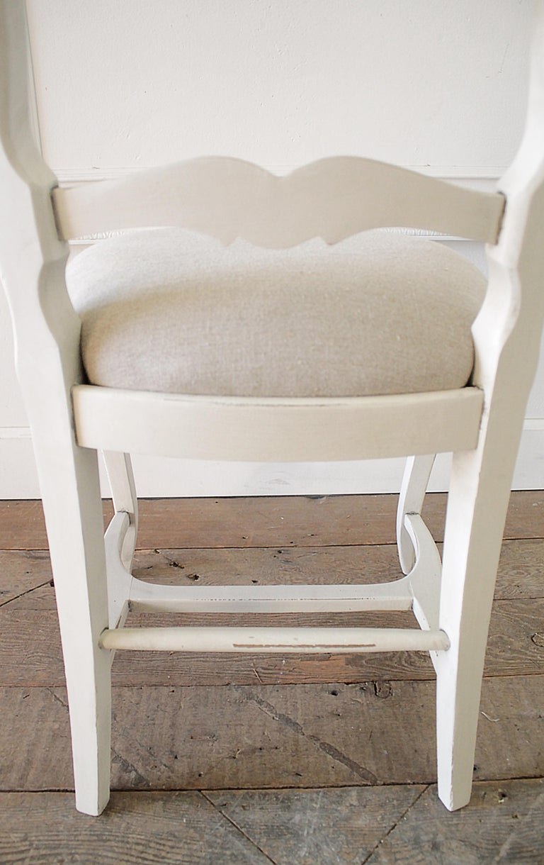 Set of 6 Painted and Upholstered French Country Style ...