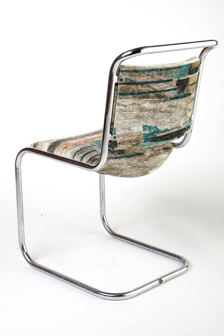 British Set of 6 P.E.L. Chrome-Plated Tubular Chairs, England, circa 1931 For Sale
