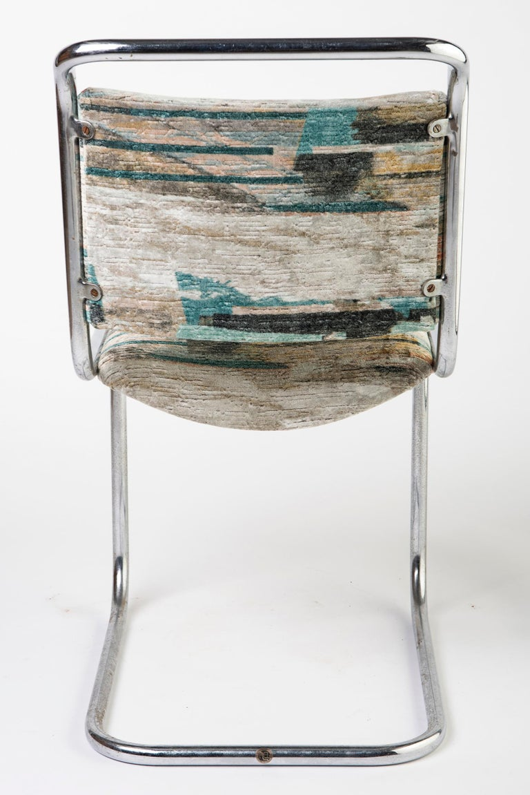 Set of 6 P.E.L. Chrome-Plated Tubular Chairs, England, circa 1931 In Good Condition For Sale In Macclesfield, Cheshire