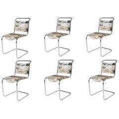 Set of 6 P.E.L. Chrome-Plated Tubular Chairs, England, circa 1931