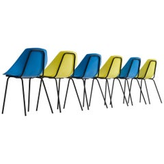 Set of 6 Pierre Guariche 'Coquillage' Dining Chairs