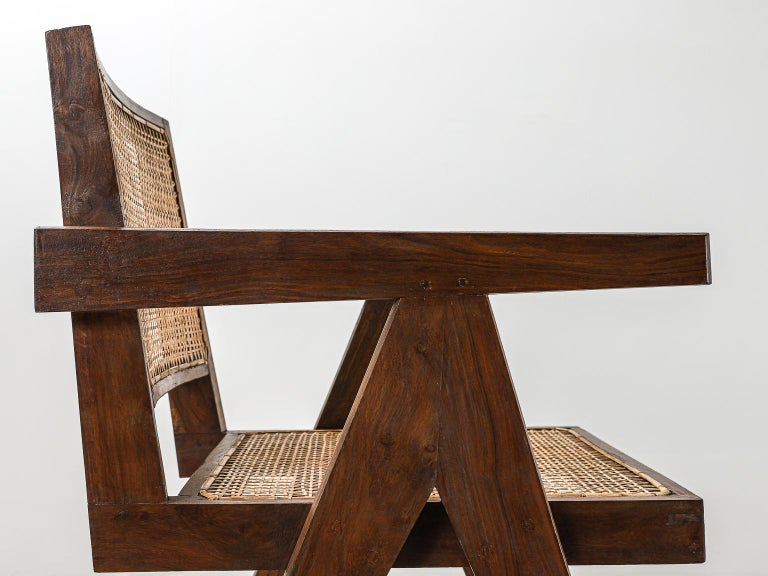 Set of 6 Pierre Jeanneret Office Chair, Variant, circa 1953-1954 For Sale 10