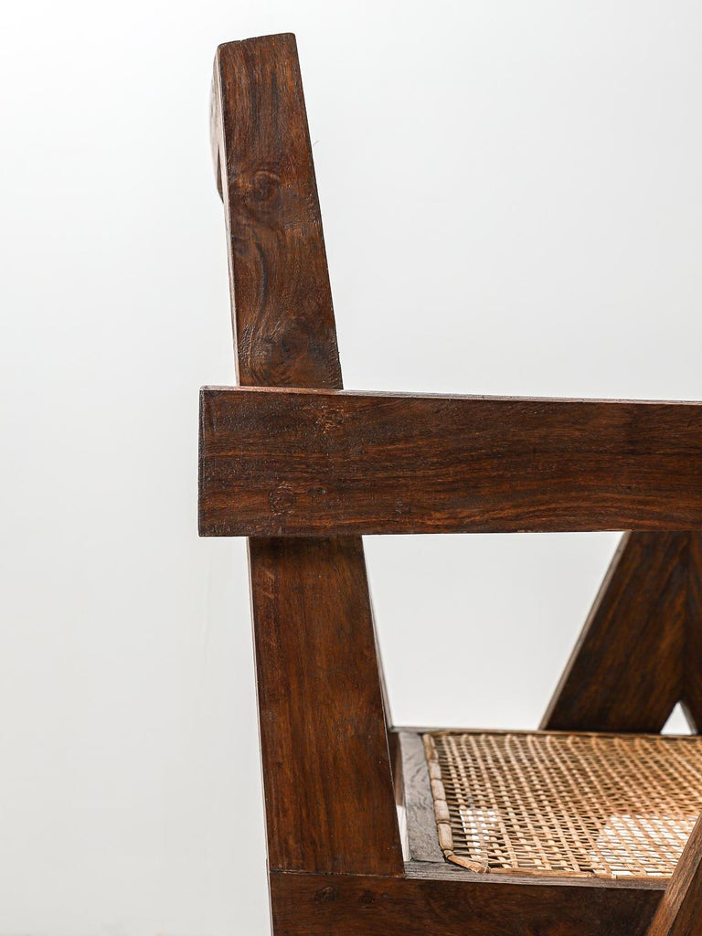 Set of 6 Pierre Jeanneret Office Chair, Variant, circa 1953-1954 For Sale 6