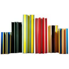 Set of 6 Piscis Aluminum Vases by Jorge Penadés