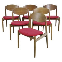Set of 6 Ponte S. Pietro Teak Mid-Century Modern Dining Chairs