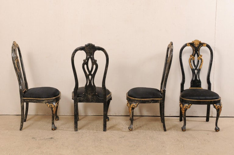 Set of 6 Portuguese Style Dining Side Chairs In Good Condition For Sale In Atlanta, GA