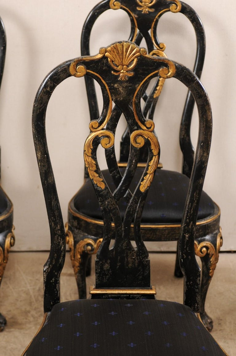 Set of 6 Portuguese Style Dining Side Chairs For Sale 1