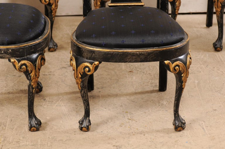 Set of 6 Portuguese Style Dining Side Chairs For Sale 2