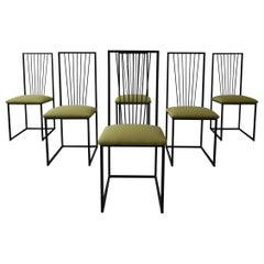 Set of 6 Postmodern Memphis Milano Minimalist Style Dining Chairs