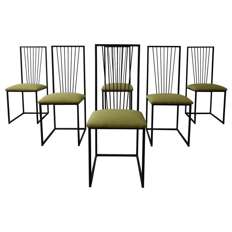Simple Minimalist Dining Set: Set Of 6 Postmodern Memphis Milano Minimalist Style Dining