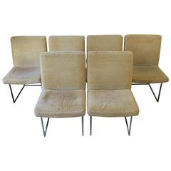 Set of 6 Postmodern Milo Baughman for Thayer Coggin Dinning Chairs, circa 1970s