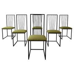 Set of 6 Postmodern Minimalist Style Dining Chairs