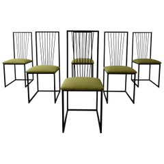 Set of 6 Postmodern Minimalist Style Dining Chairs