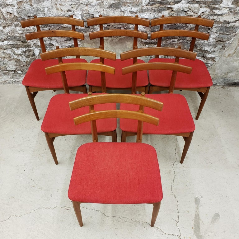 Scandinavian Modern Set of 6 Poul Hundevad Model 30 Danish Teak Dining Chairs For Sale