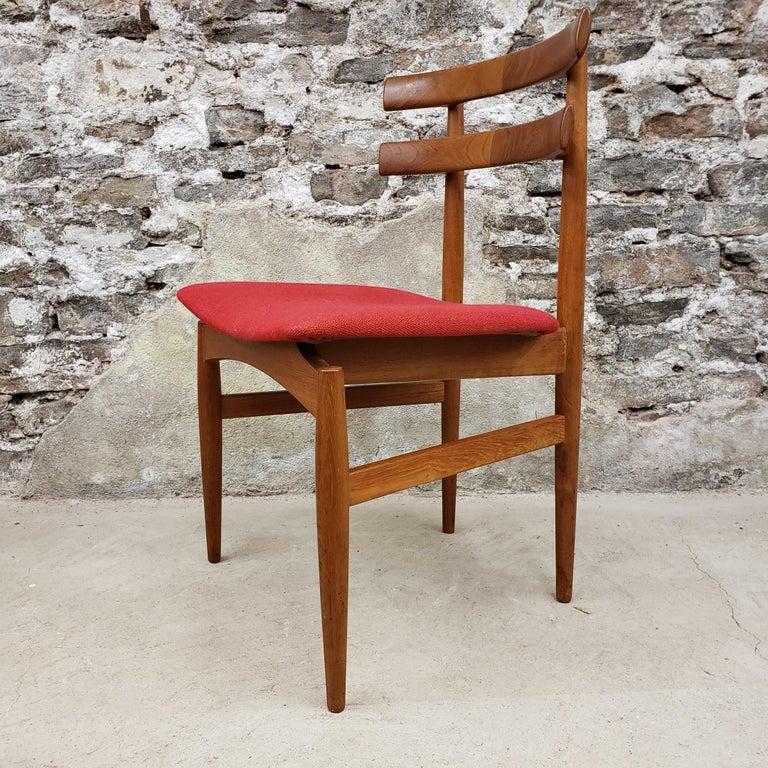 Upholstery Set of 6 Poul Hundevad Model 30 Danish Teak Dining Chairs For Sale