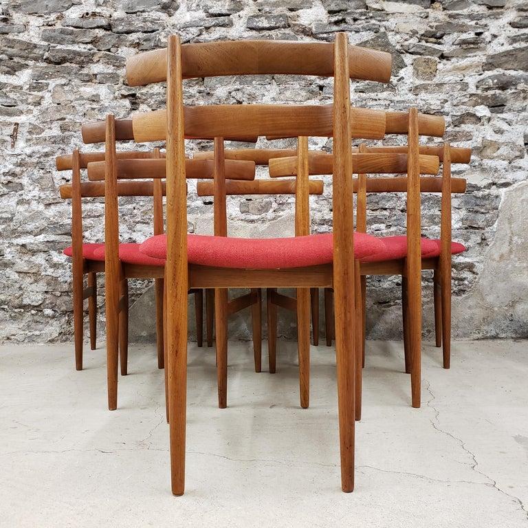 Set of 6 Poul Hundevad Model 30 Danish Teak Dining Chairs For Sale 1