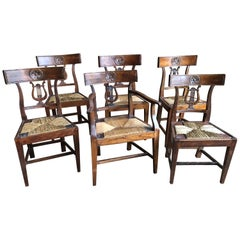 Set of 6 Provincial Dining Chairs, Early 19th Century