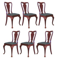 Set of 6 Queen Anne Style Chairs