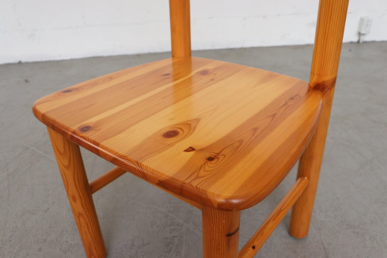 Set of 6 Rainer Daumiller Style Pine Dining Chairs For Sale 4