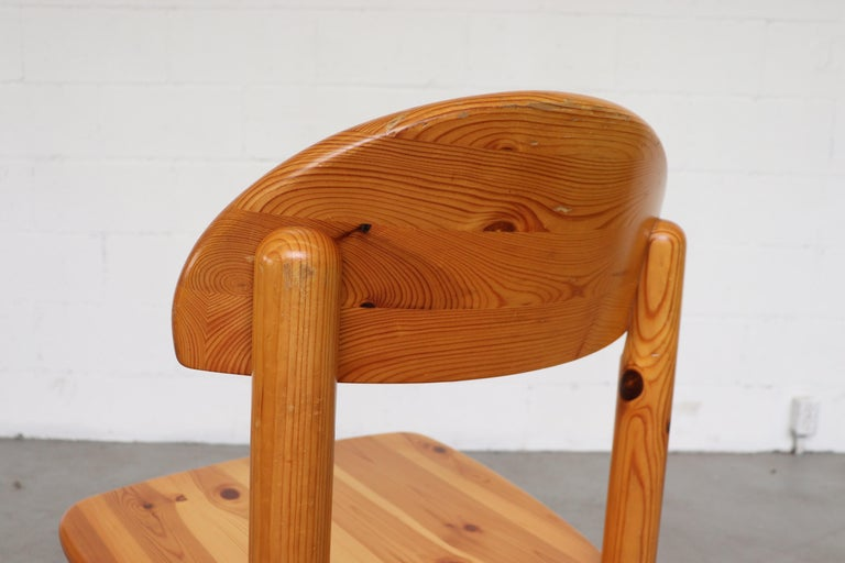 Set of 6 Rainer Daumiller Style Pine Dining Chairs For Sale 5