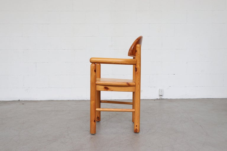 Set of 6 Rainer Daumiller Style Pine Dining Chairs For Sale 8