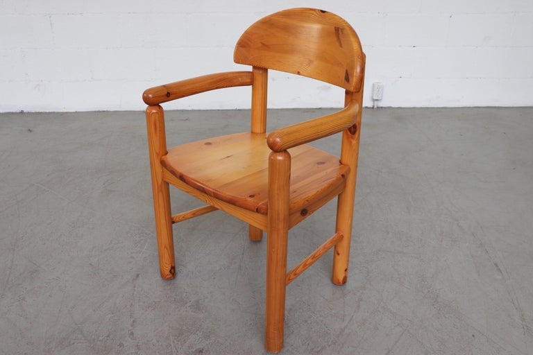 Set of 6 Rainer Daumiller Style Pine Dining Chairs For Sale 11