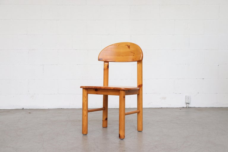 Danish Set of 6 Rainer Daumiller Style Pine Dining Chairs For Sale