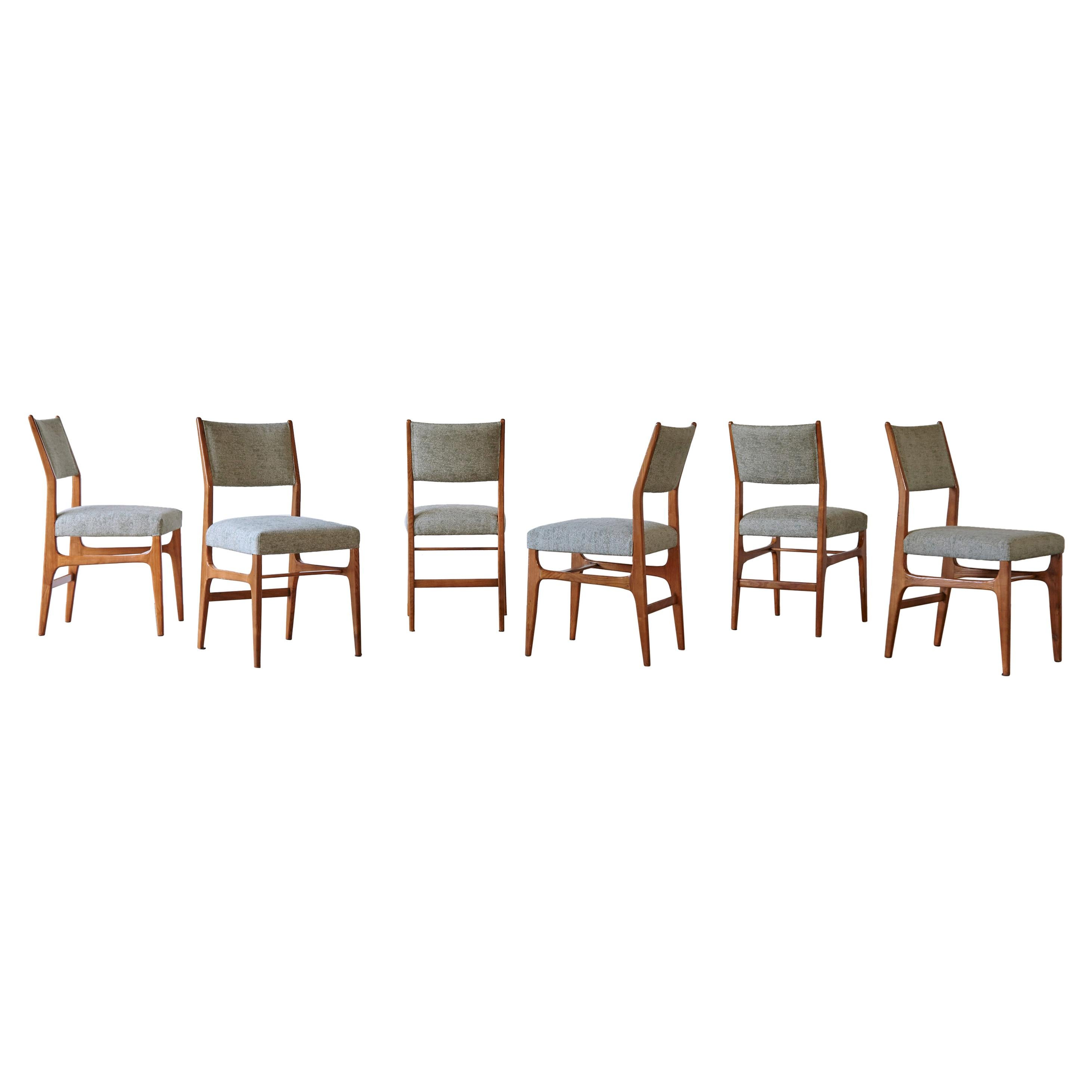 Set of 6 Rare Gio Ponti 602 Dining Chairs for Cassina, Italy, 1950s