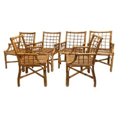 Set of 6 Rattan Chairs