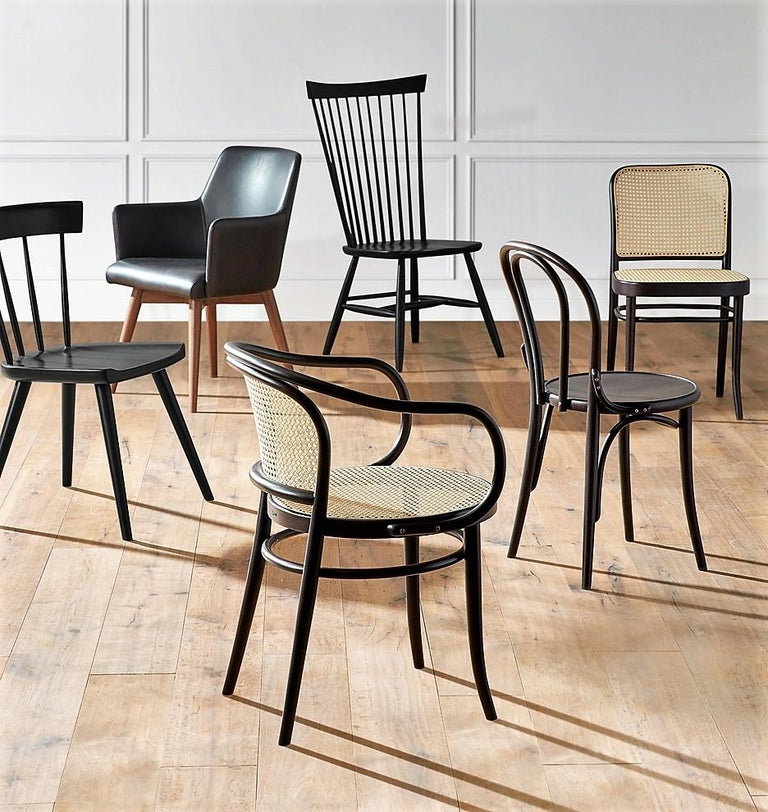 Dinette Chairs For Sale: Set Of 6 Rattan Dining Chairs In Nougat Brown For Sale At