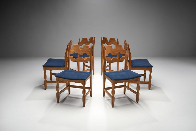 Henning Kjaernulf's Razorblade chairs are the designer's most distinctive designs. This set was manufactured by the Danish company EG Kvalitetsmobel in the 1960s, making it a true Danish midcentury set.  It is easy to see where the nickname of